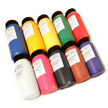 Set of 10 Scolasystem Acrylic Paints (large 500ml bottles)
