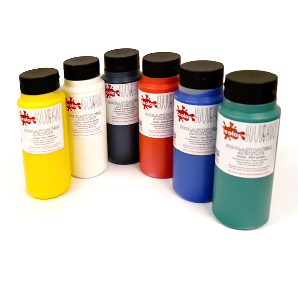 6 500ml bottles of high quality acrylic paint