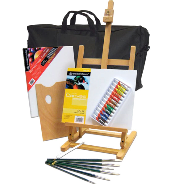 Oil Paint Set with Easel
