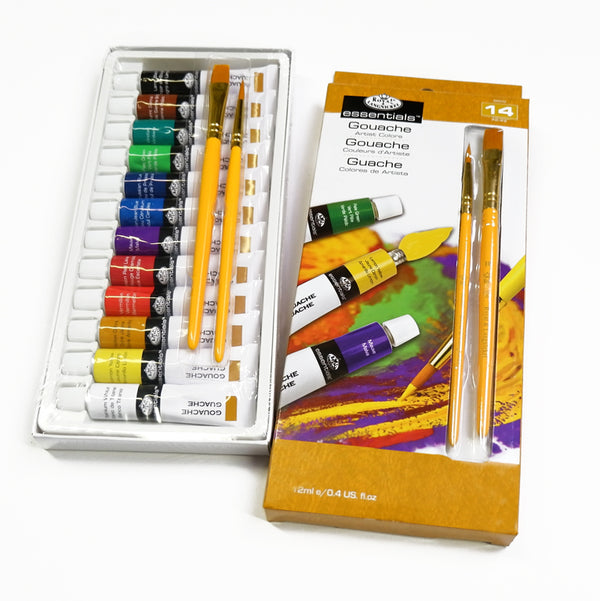 Royal & Langnickel Gouache Paint Set with Brushes - 12 x 12ml