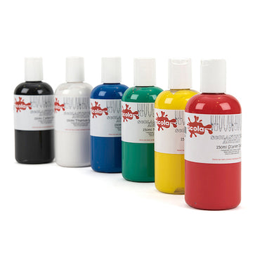 Scolacryl Acrylic Paint Set (6 x 150ml)