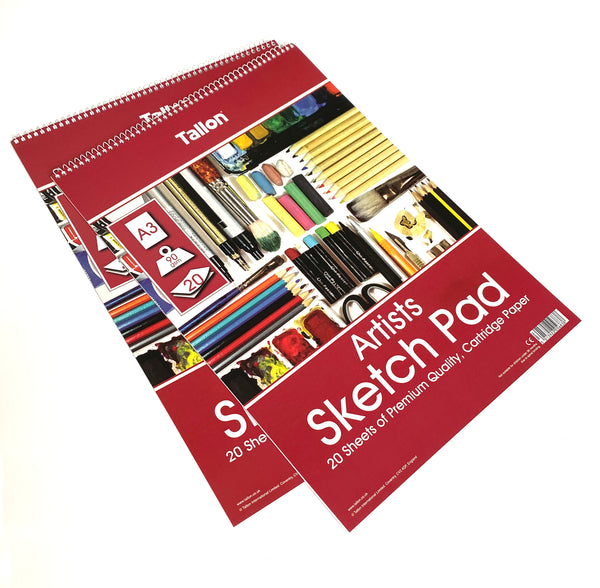 A3 Sketch Pad for Charcoal and Watercolour Pencils