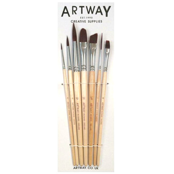 short handle Paint Brush Set for Acrylic and watercolour