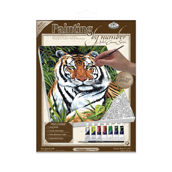 Painting by Numbers - Tiger in Hiding