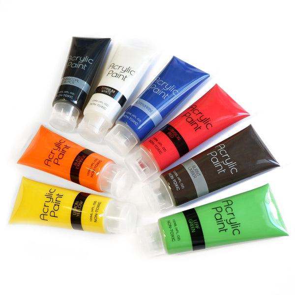 1 tube of Acrylic Paint - Available in 8 essential colours - 120ml