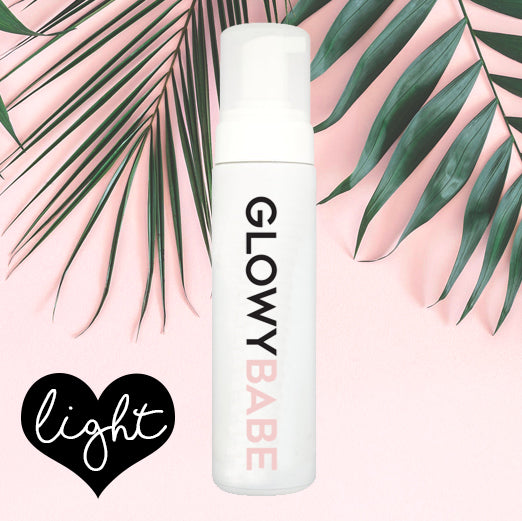GLOWYBABE Luxury Self Tanning Mousse in Light - Glowy Babe