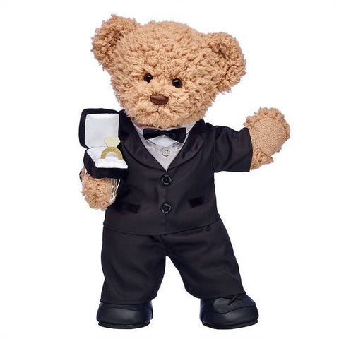 Timeless Teddy Groom & Ring Box