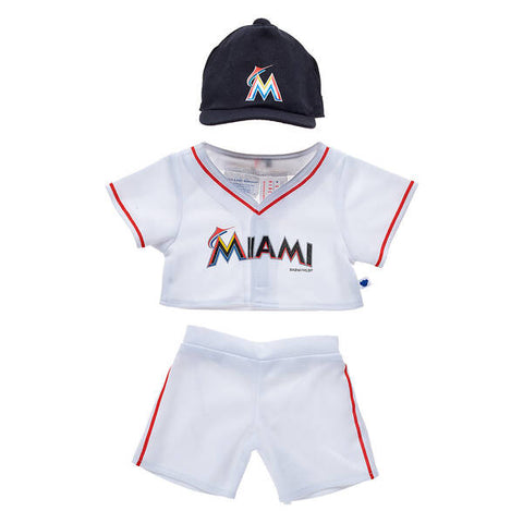 Miami Marlins™ Uniform 3 pc. and Happy Hugs Teddy