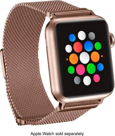Platinum Stainless Steel Mesh Apple Watch Band