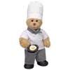 Chef Curly Teddy with Eggs Gift Set