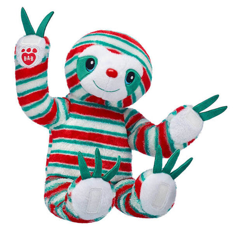 Peppermint Twist Holiday Sloth