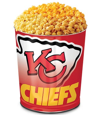 Kansas City Chiefs 3-Flavor Popcorn Tin
