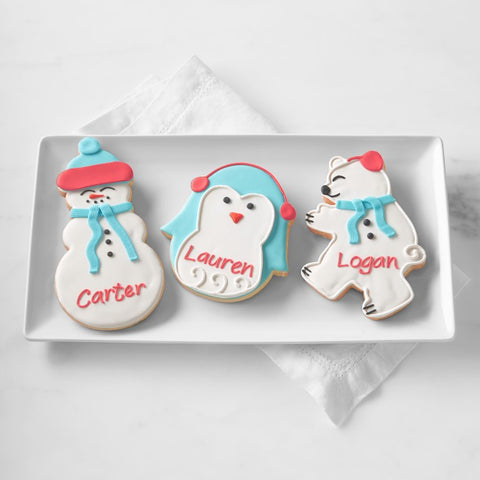 Personalized Giant Winter Cookies