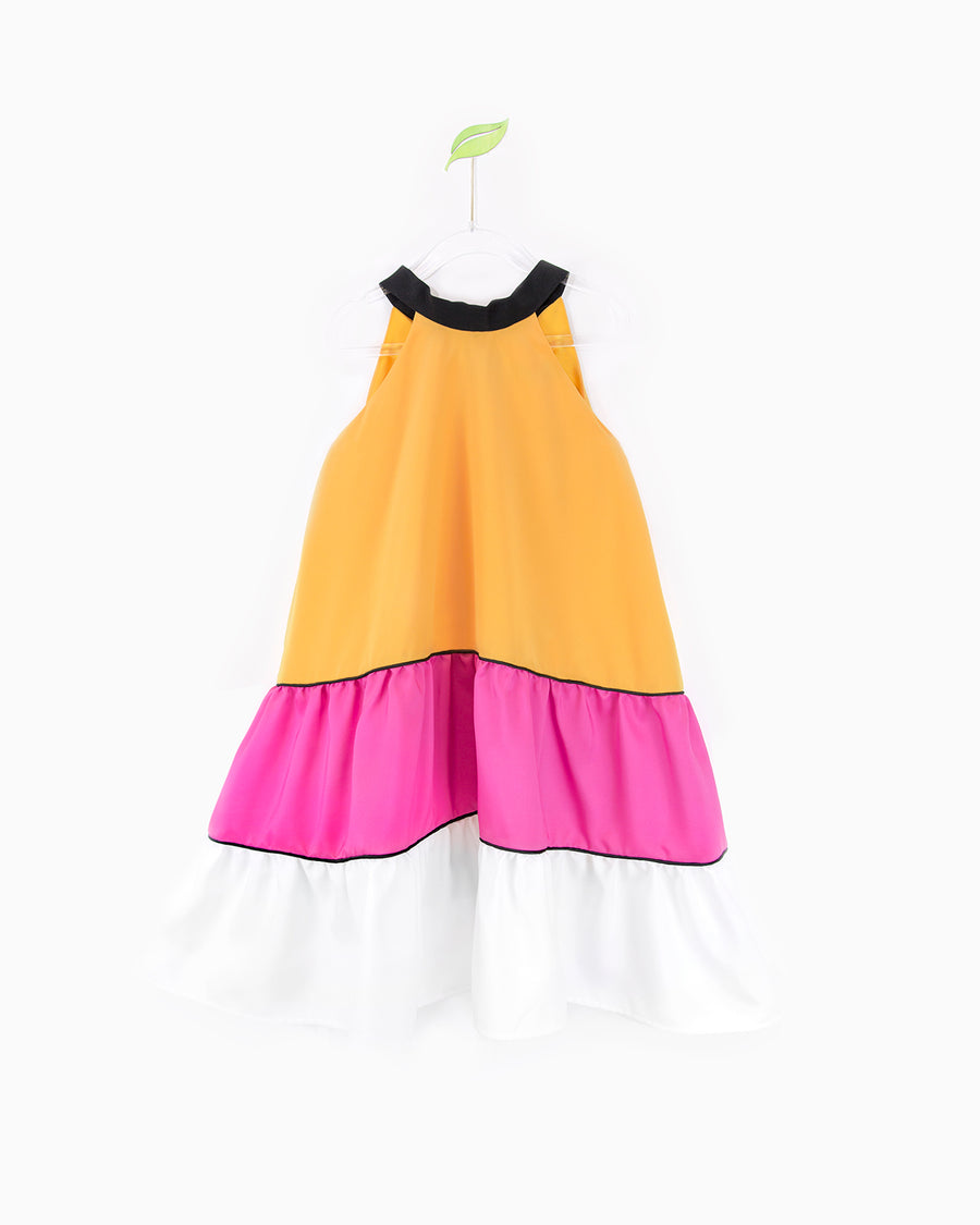 Mango and Pink Nala Dress