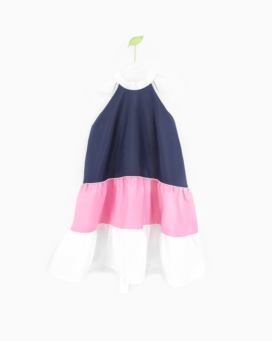 Navy and Pink Nala Dress