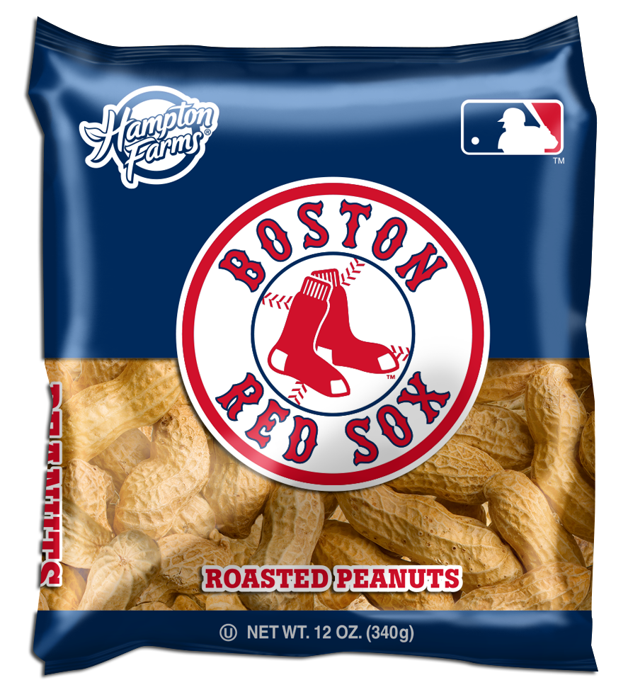 Boston Red Sox Unsalted In-Shell Peanuts 12oz Bags - Case of 18