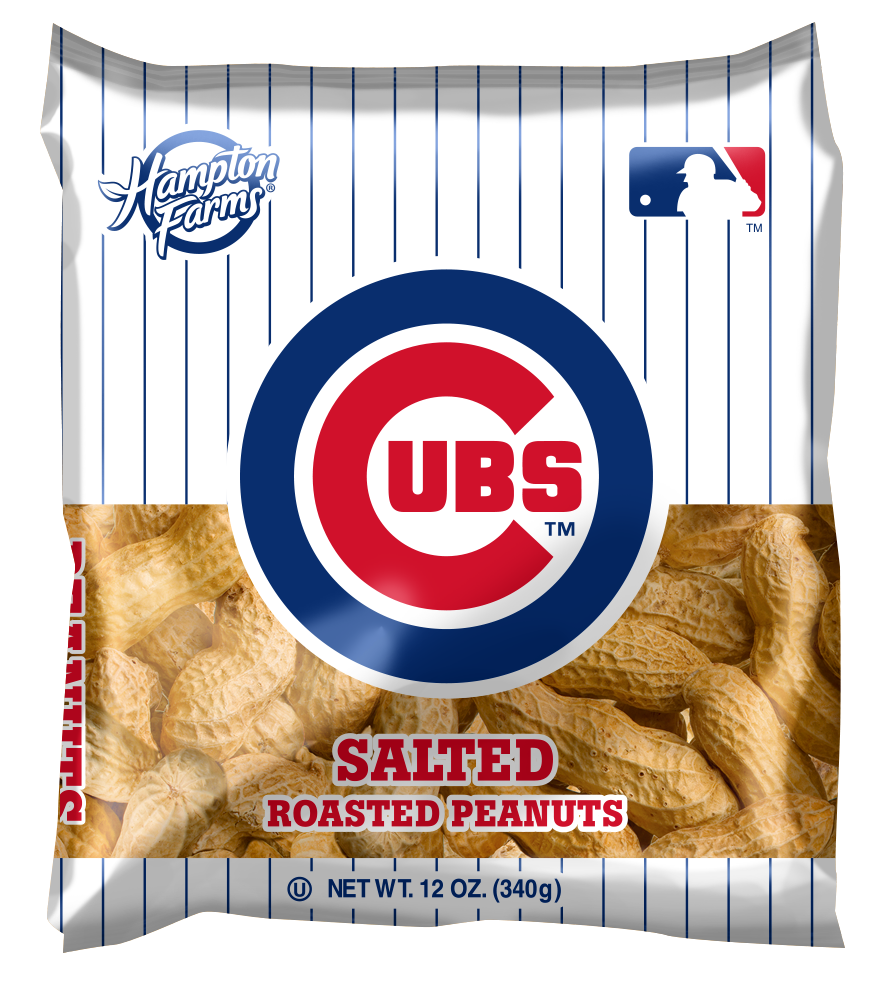 Chicago Cubs Salted In-Shell Peanuts 12oz Bags - Case of 18