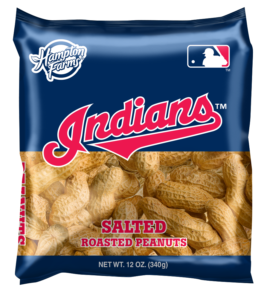 Cleveland Indians Salted In-Shell Peanuts 12oz Bags - Case of 18