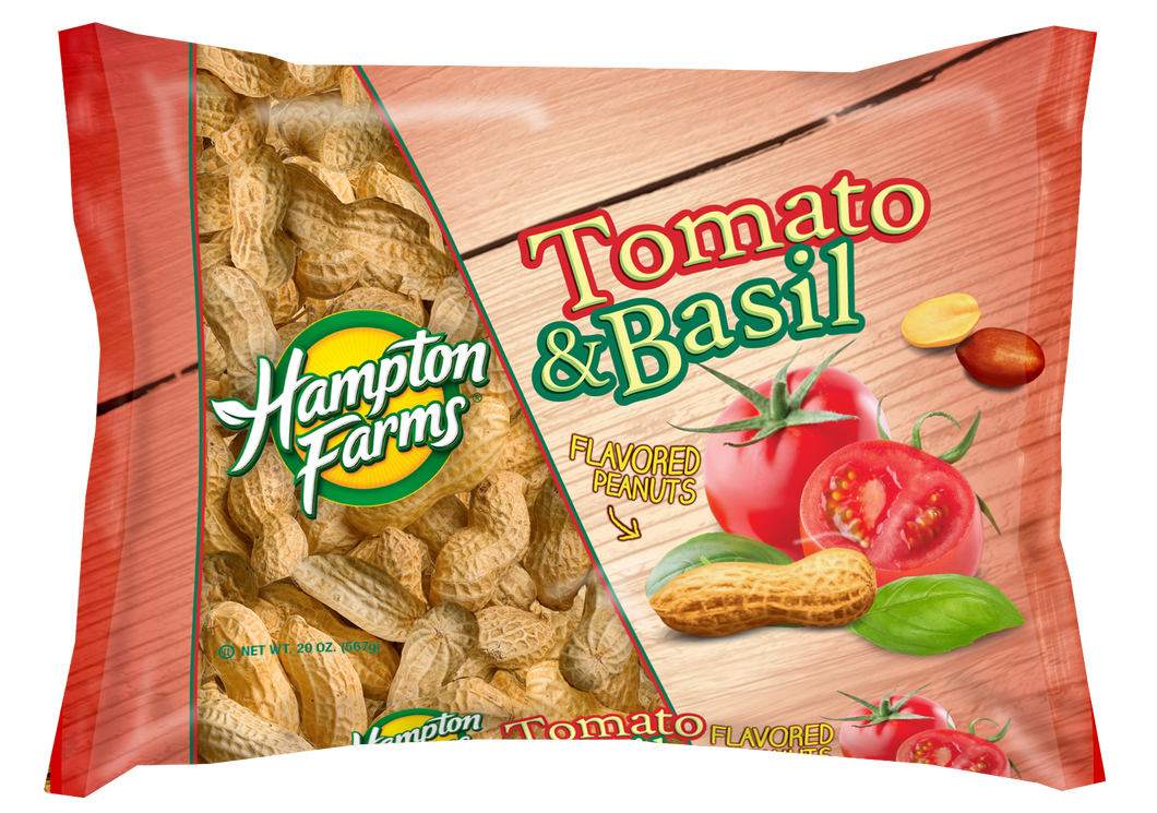 Tomato Basil Flavored In-Shell Peanuts