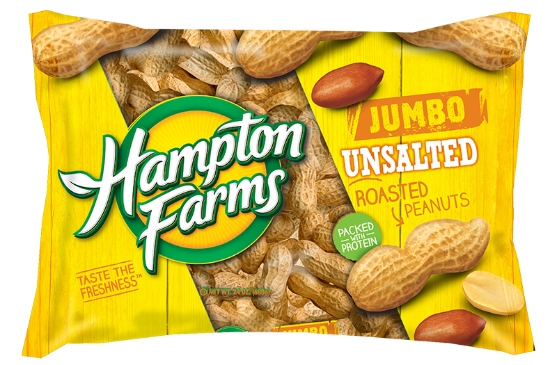 24 oz Jumbo Unsalted Peanuts - Case of 16 bags