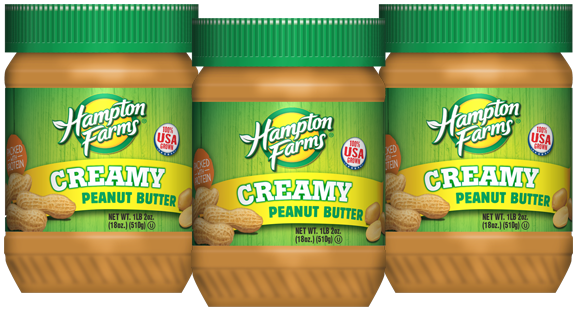Creamy Peanut Butter (18 oz.) - 3 pack