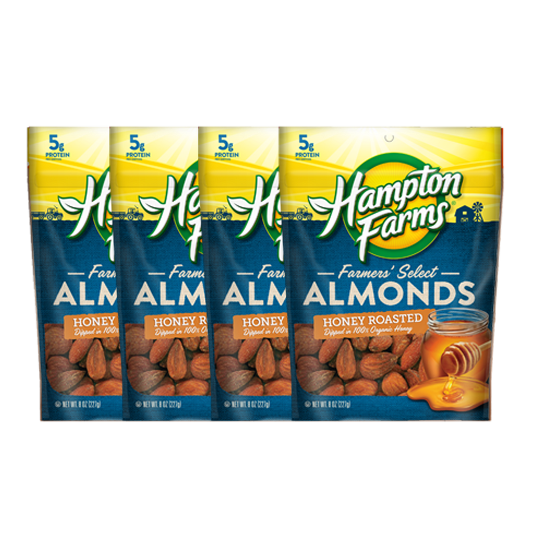 Honey Roasted Almonds (8 oz.) - 4 Pack