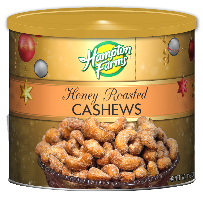Honey Roasted Cashews - Holiday Edition (11 oz.)
