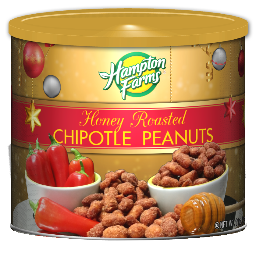Honey Chipotle Peanuts - Holiday Edition (11 oz.)