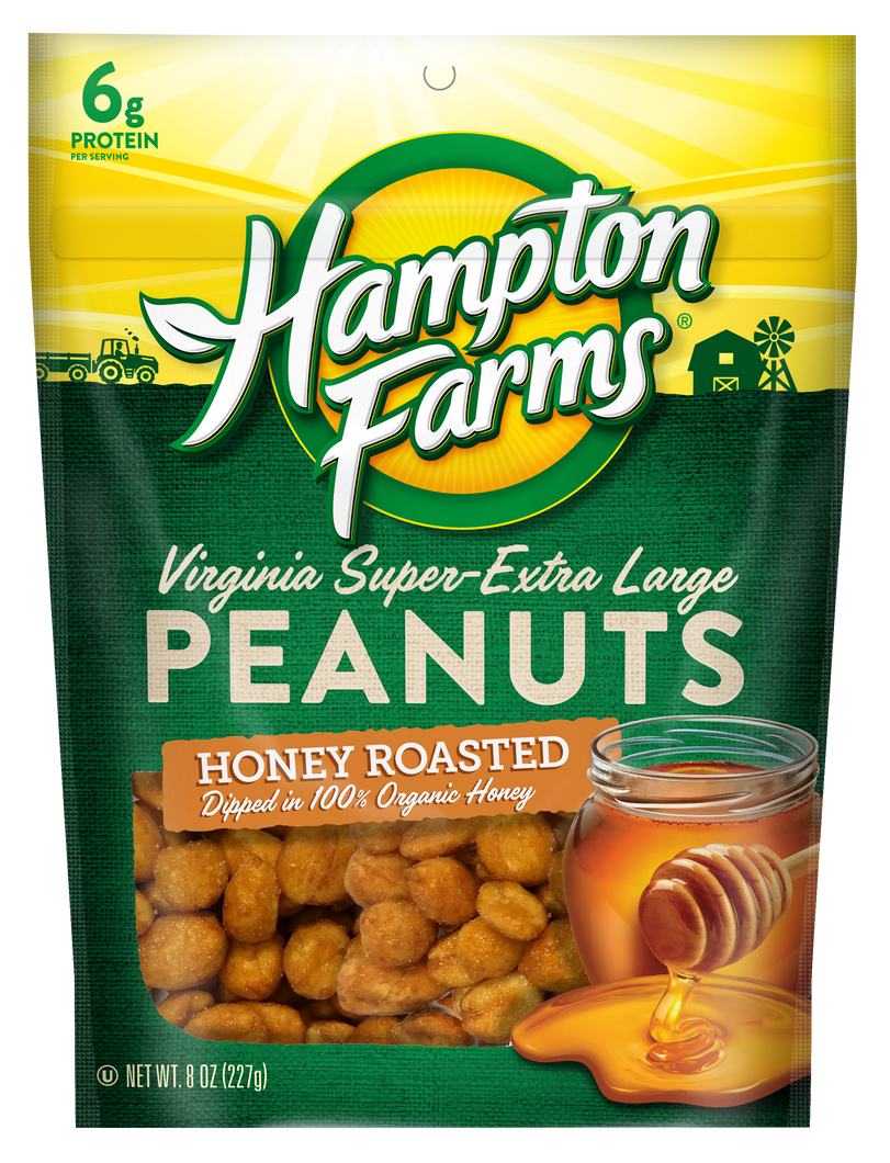Virginia Super Extra Large Peanuts - Honey Roasted (8 oz.) - 4 pack