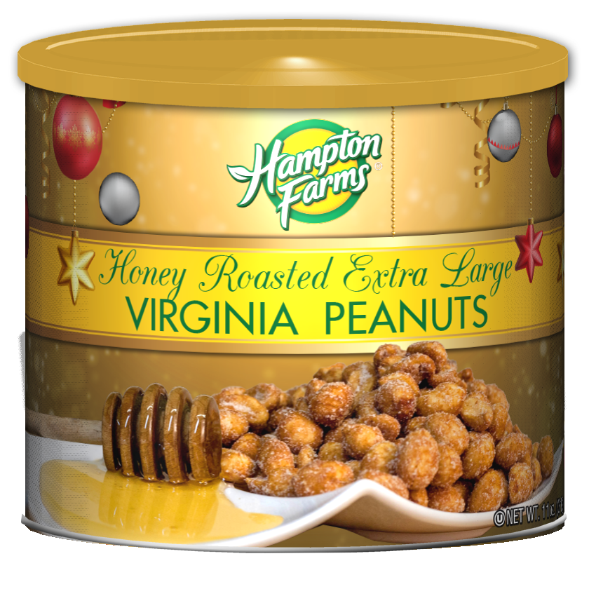 Honey Roasted Peanuts - Holiday Edition (11 oz.)