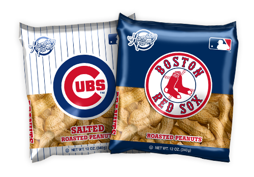 Major League Baseball In-Shell Peanuts 12oz Bags - Case of 18