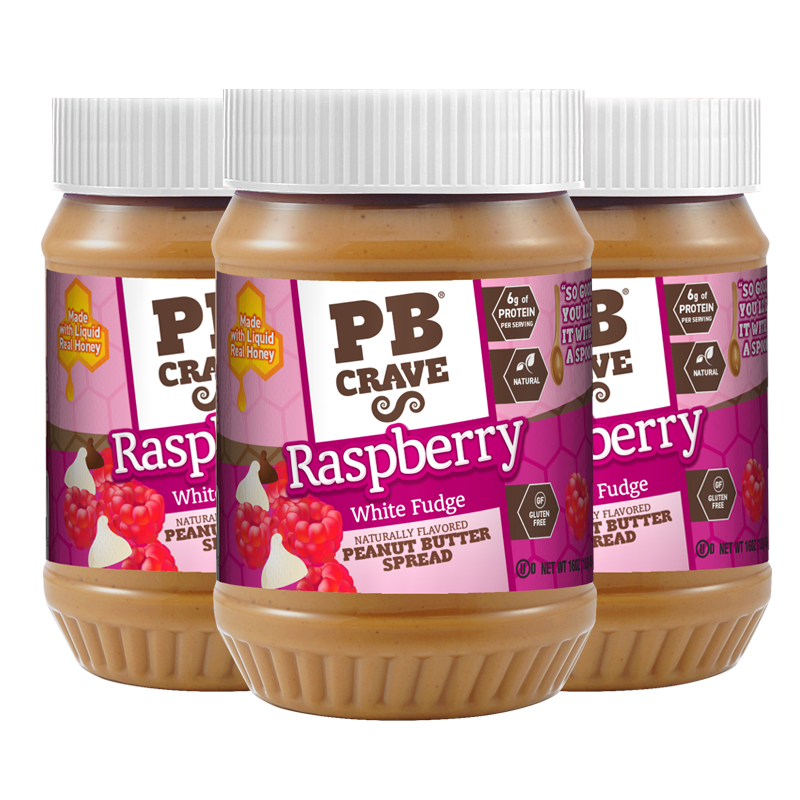 PB Crave – Raspberry White Fudge