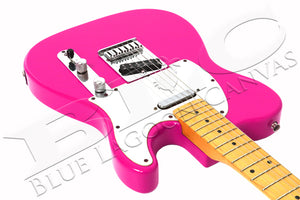 PINK Electric Guitar Canvas Print