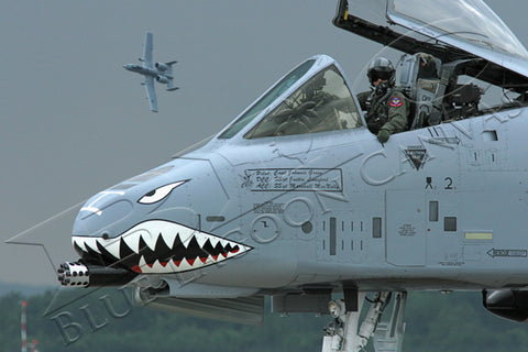 A-10 Fighter Pilot Canvas Print