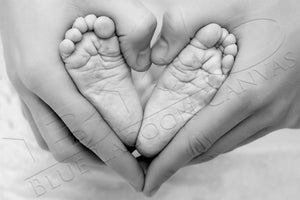Baby Heart BW Canvas Print