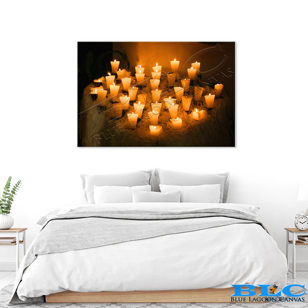 Cozy Candles Canvas Print