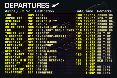 Departure Board Canvas Print