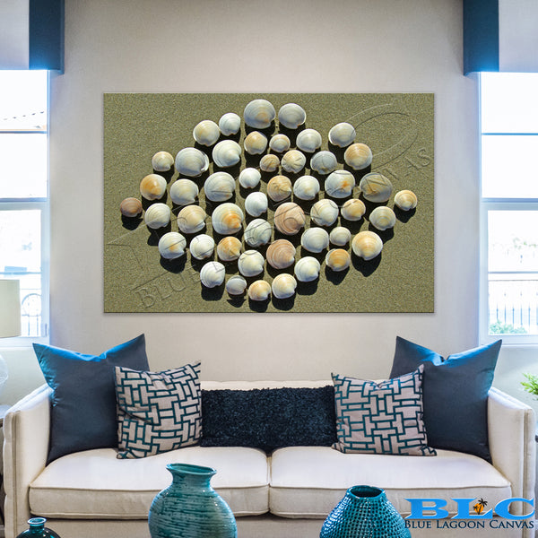 Diamond Shells Canvas Print