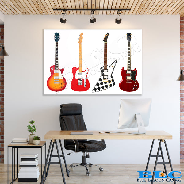 ICONIC Electric Guitars Canvas Print