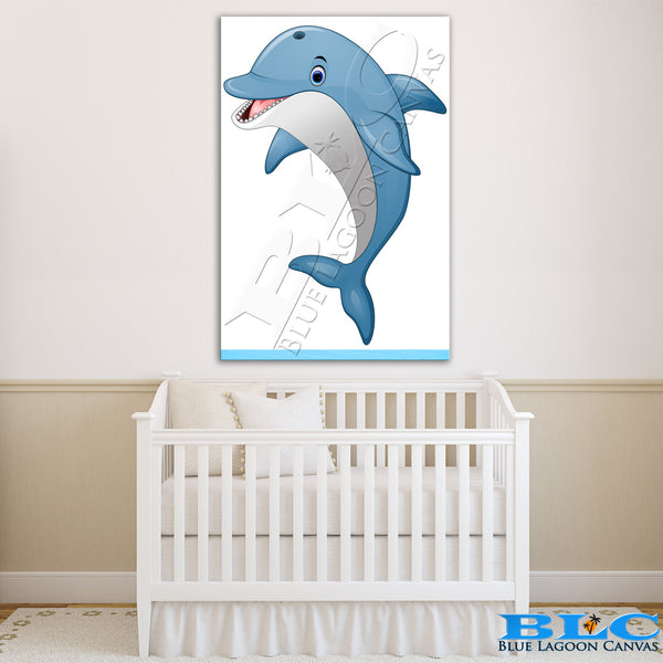 Jumping Dolphin Canvas Print