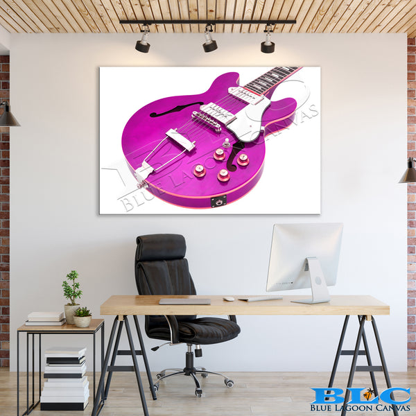 Purple Electric Guitar Canvas Print