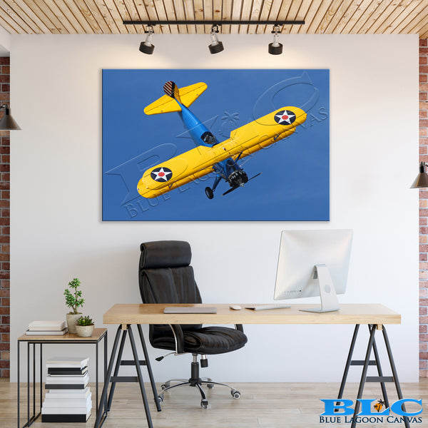 Stearman Dive Canvas Print