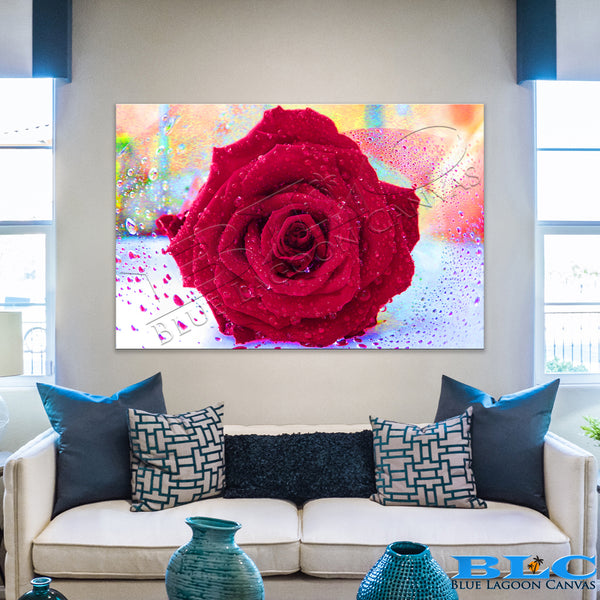 Wet Rose Canvas Print