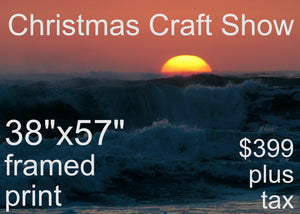 CHRISTMAS CRAFT SHOW 38x57 FRAMED PRINT