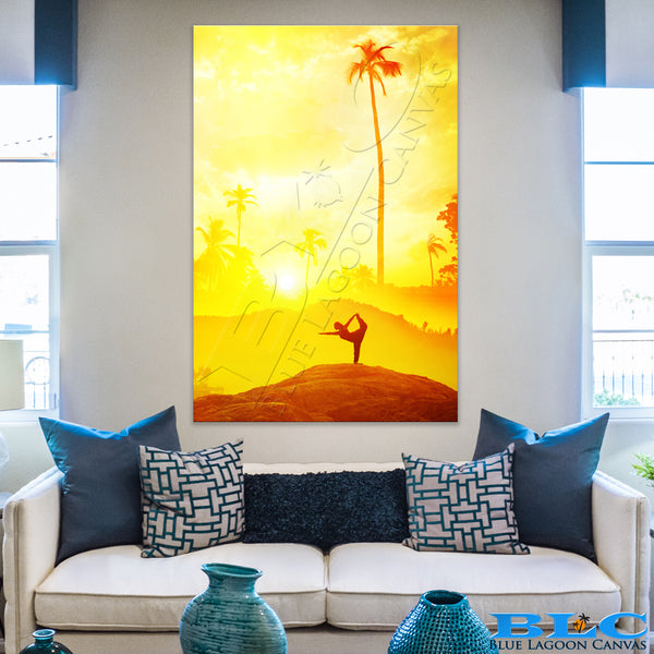 YOGA Sunset Canvas Print