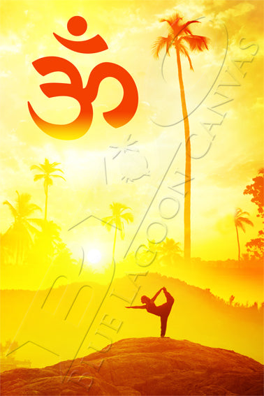 YOGA Sunset OM Canvas Print