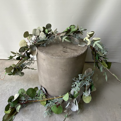 Gorgeous full Seeded Silver Dollar Eucalyptus Garland