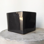 Square Black Ceramic Vase (SECONDS)