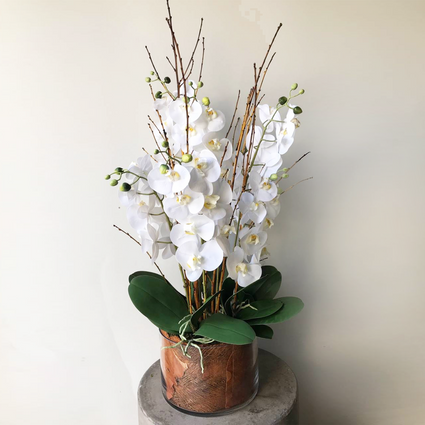 Lifelike Phalaenopsis Orchid Arrangement Large