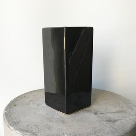 Small Black Rectangle Ceramic Vase (SECONDS)